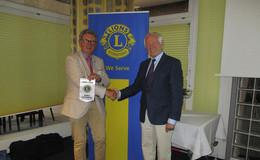 Präsidentenwechsel Lions Club - Wolfgang Schneider hat jetzt das Kommando