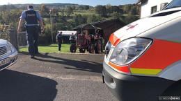 Eingeklemmte Person durch Unfall mit landwirtschaftlichem Gerät