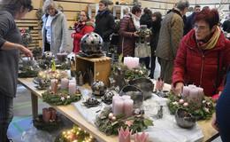 Der traditionelle Adventsmarkt bot ein spannendes Angebot