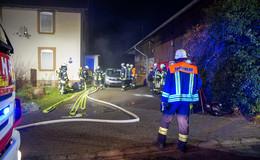 Rauch aus Wohnhaus in Schweben: Ursache Kabelbrand