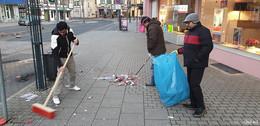 Ahmadiyya-Gemeinde kehrt: Jede Menge Müll nach der Silvesternacht
