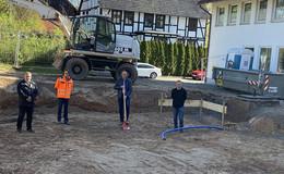 Beginn der Umbauarbeiten am Feuerwehrgerätehaus Kleba