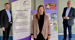 Regierungspräsident Klüber informiert sich bei Deutscher PalliativStiftung