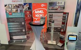 Virenschutzfolie von Fuldaer Unternehmen Marotech auf Infektionsschutzmesse