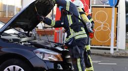 Fahrzeug glücklicherweise nicht in Brand geraten
