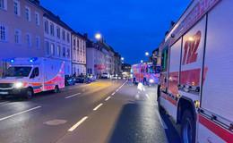 Kellerbrand in der Leipziger Straße - Starke Rauchentwicklung
