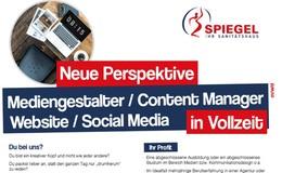 Mediengestalter/Content Manager Website/Social Media
