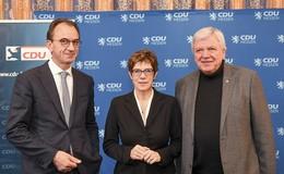 AKK lobt Bouffier als Könner seines Fachs - Vorfreude auf Europawahlkampf