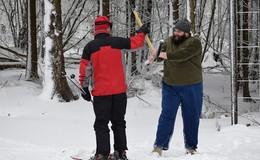 Skisaison im Vogelsberg eröffnet: Skilift Herchenhainer Höhe in Betrieb