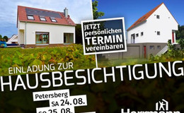 Herrmann Massivholzhaus: Hausbesichtigung in Petersberg