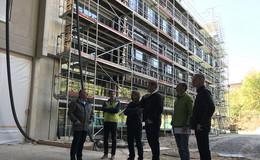 Baufortschritte am Berufsbildungszentrum Münnerstadt