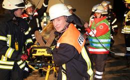 Alarmübung: Feuerwehren und Deutsches Rotes Kreuz testen Zusammenarbeit