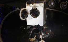 Waschmaschine brennt: Feuerwehr in Breitenbach verhindert Schlimmeres