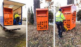 Neue Kolpingkleider-Container im Hünfelder Norden