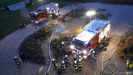 Gemeinsame Feuerwehr-Übung: Brand im Altenpflegezentrum
