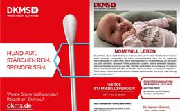 Baby Nomi (acht Wochen) braucht einen Stammzellenspender