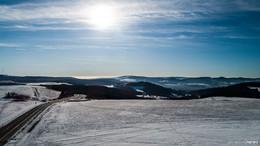 Die Gunst der Stunde nutzen: Schneelandschaft und strahlender Sonnenschein
