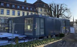 Tourist-Info zieht in Container - Umbau und Erweiterung im Palais Buttlar