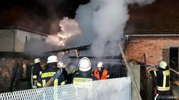 Scheunenbrand ausgebrochen: keine Verletzten