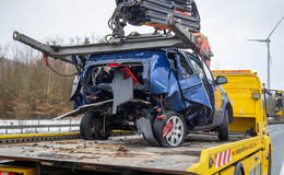 Verkehrsunfall auf der A66: Mehrere Fahrzeuge involviert