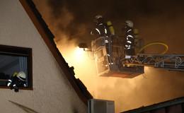 Feuerwehreinsatz in Bad Hersfeld - Dachstuhl in Flammen