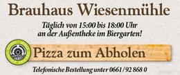 Abholservice beim Brauhaus Wiesenmühle in Fulda