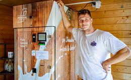 Neue Milchtankstelle auf dem Wilhelmshof: Jetzt wieder 24 Stunden frische Milch