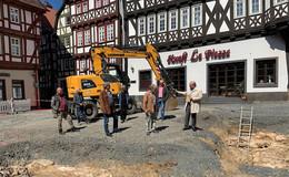 Mauerfund: Vorgängerbau des Alsfelder Rathauses entdeckt?