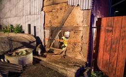 Anwohner verhindern mit beherztem Eingreifen Scheunenbrand in Frischborn