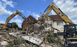 Ehemaliger Hersfelder Hof abgerissen - riesiges Areal wird sichtbar
