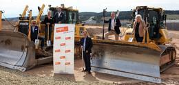 Erster Spatenstich: Tegut baut in Michelsrombach riesiges Logistikzentrum