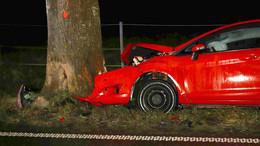 Frontal-Crash in Hergershausen: Ford Fiesta gegen Baum - Fahrerin in Klinik