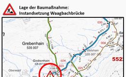 Schäden an der Waagbachbrücke: Arbeiten beginnen heute