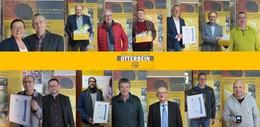 Langjährige Mitarbeiter geehrt: Firmentreue Anerkennung fürs Unternehmen
