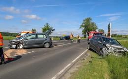 Unfall auf der L 3176: Zwei Autos an der Kreuzung zusammengestoßen