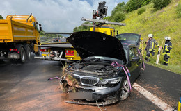 Schwerer Unfall auf der A 66: Auto kommt von der Fahrbahn ab