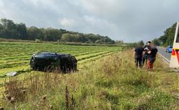 Unfall auf der Bundesstraße 62: Junge Autofahrerin kommt von der Fahrbahn ab
