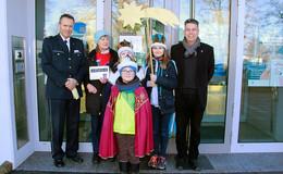 Sternsinger freudig im Polizeipräsidium Osthessen empfangen