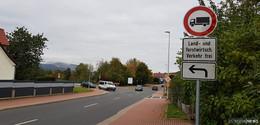 Geringe Straßenbreiten der L3306: Lkw-Fahrverbot in Wölfershausen