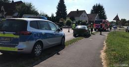 Verkehrsunfall in der Hessenstraße - Zwei verletzte Personen