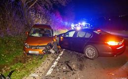 Schwerer Unfall auf der L 3174 bei Wendershausen - drei Verletzte