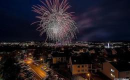 Kein großes Feuerwerk: Osthessen wechselt still ins neue Jahr
