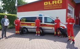 Rettungshundestaffel des DLRG Ortsverbandes freut sich über Spende