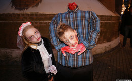 Horrorgestalten als Fahrgäste im Geister Express nach Transsylvanien
