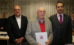 Hans-Otto Kurz mit dem Ehrenbrief des Landes Hessen geehrt