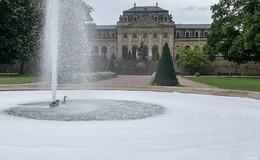 Große Fontäne im Schlossgarten schäumt vor Wut