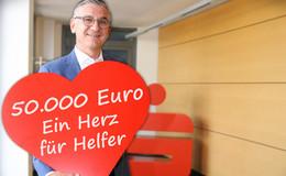 Ein Herz für Helfer: Sparkasse Oberhessen spendet 50.000 Euro