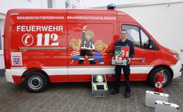Landkreis erhält vom Land Hessen Gerätewagen für Brandschutzerziehung