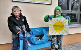 Hort-Kinder setzen Zeichen für den Umweltschutz