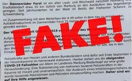 Fake-Polizeiaufruf im Umlauf: Einsatzkräfte sollen bei Anwohnern übernachten